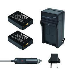 Bonacell 2PCs LP-E10 Battery 1600mAh and Battery Charger Kit