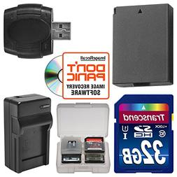 LP-E10 Battery & Charger + 32GB SD Card Essential Bundle for