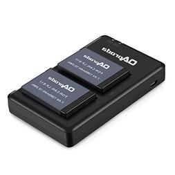 OAproda 2 Pack LP-E17 New Upgraded Battery and Rapid Dual Mi