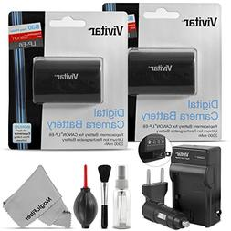 Vivitar LP-E6 LP-E6N Battery and Charger Kit for Canon EOS