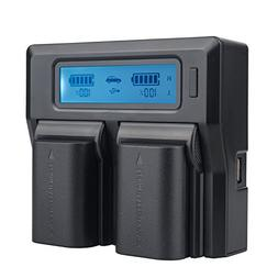 TOP-MAX LP-E6 LP-E6N Quick Dual Battery Charger for Canon EO