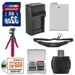LP-E8 Battery & Charger + 32GB SD Card  Tripod & Strap Essen