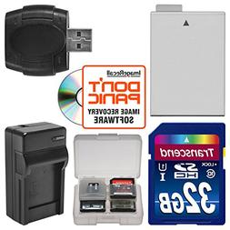 LP-E8 Battery & Charger + 32GB SD Card Essential Bundle for