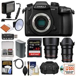Panasonic Lumix DC-GH5 Wi-Fi 4K Digital Camera Body with 35m