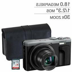 Panasonic LUMIX DMC-ZS60 Digital Silver Camera with Case & 1