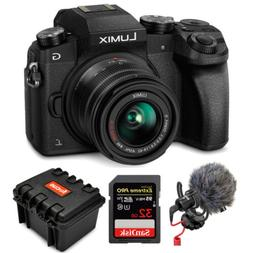 Panasonic LUMIX G7 4K Mirrorless Camera with 14-42mm Lens  B