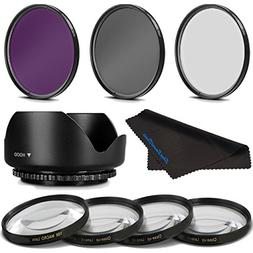58MM Professional Macro & Lighting Filter Kit for Canon EF-S