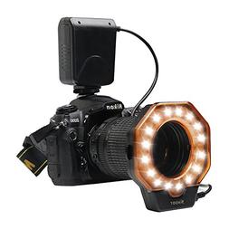 Macro LED Ring, D&F 32 Photo Video Lighting Bundle Close-up