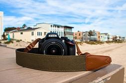 TETHER Marine Green Camera Strap for DSLR or SLR camera, DSL