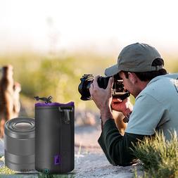 Medium Size Waterproof Neoprene Soft DSLR Camera Lens Pouch