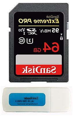 SanDisk 64GB Extreme Pro Memory Card works with Nikon D3400,