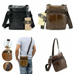 Koolertron Men's Vintage PU Leather Satchel Crossbody Bag Sh