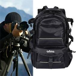 Men Women DSLR Camera Backpack Bag Case Waterproof Large Cap
