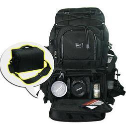 """Mens Womens Rainproof DSLR SLR Camera Backpack 17"""" Laptop Sh"""