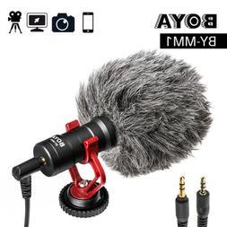 BOYA Microphone Condensor Video for Smartphone Nikon DSLR Ca