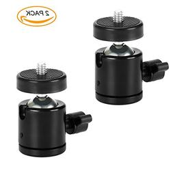 "Mini Tripod Ball Head Hot Shoe Mount with 1/4"" Screw,SERMI"