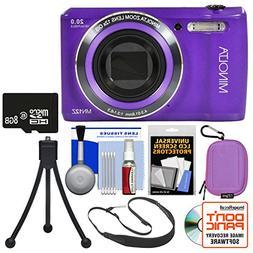 Minolta MN12Z OIS 12x Zoom Wi-Fi Digital Camera  with 8GB Ca