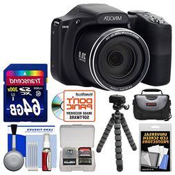 Minolta MN35Z 1080p 35x Zoom Wi-Fi Digital Camera  with 64GB