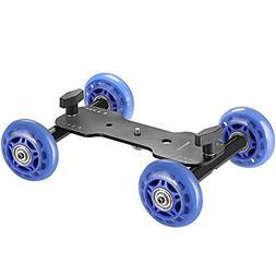 Neewer Mobile Rolling Slider Dolly Car Skater Video Track Ra