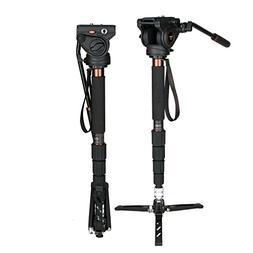 Camera Monopod Kit, Cayer CT35DV 68 inch Carbon Fiber Video