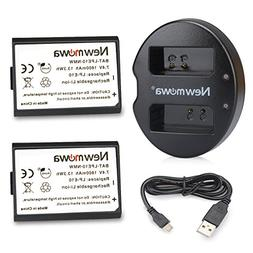 LP-E10 Newmowa Battery  and Dual USB Charger for Canon EOS R