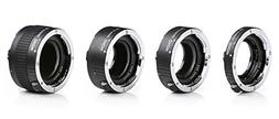 Movo MT-C93 4-Piece AF Chrome Macro Extension Tube Set for C
