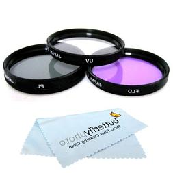 58mm Multi-Coated 3 Piece Filter Kit  For Canon EOS Rebel T5