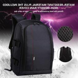 UNHO Multifunctional DSLR Camera Case Laptop Bag Backpack Fo