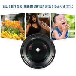 Multiple 55mm F/1.4 APS-C Lens Manual Focus For E/FX/M43/ EO