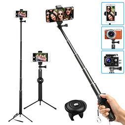 MWAY Selfie Stick 2 in 1 Portable Phone Tripod Camera Stand