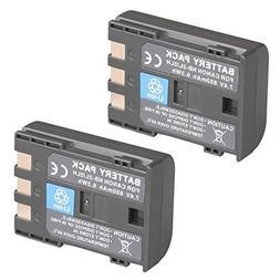 Happyjoy 2-Pack NB-2L NB-2LH High Capacity Li-ion Battery fo