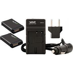 Refuel 2 PACK NB-13L Replacement Batteries w/ VIV-QCB-217 Tr