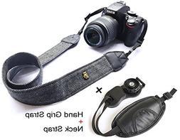 Camera Neck Shoulder Belt Strap,Alled Leather Vintage Print