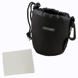 Neoprene Soft DSLR Camera Lens Pouch Case Bag -- Size: Small