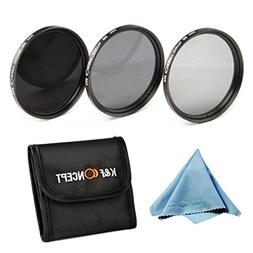 K&F Concept 72mm Neutral Density ND Filter Set ND2 ND4 ND8 L