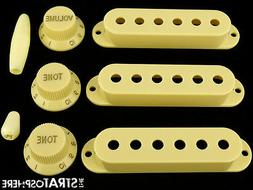 *NEW Cream ACCESSORY KIT Pickup Covers Knobs Tips for Fender