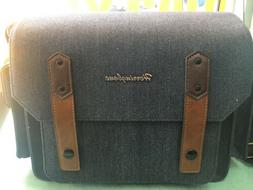 New Herringbone DSLR Camera Shoulder Bag Papas Medium Navy F