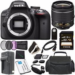 Nikon D3300 DSLR Camera with AF-P 18-55mm VR Lens  + Toshiba