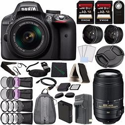 Nikon D3300 DSLR Camera with 18-55mm Lens  + Nikon AF-S DX N