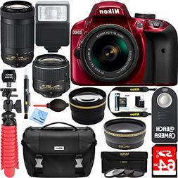 Nikon D3400 24.2 MP DSLR Camera + AF-P DX 18-55mm VR & AF-P