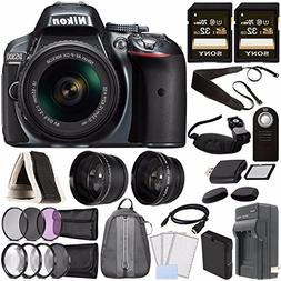 Nikon D5300 DSLR Camera with 18-55mm AF-P DX Lens  + Battery