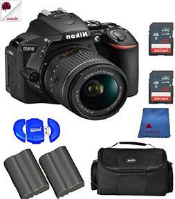 Nikon D5600 DSLR Camera with 18-55mm f/3.5-5.6G VR Lens Blac