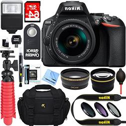 Nikon D5600 DSLR Camera + AF-S DX 18-55mm VR Lens Kit + Acce