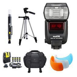 Nikon SB-5000 AF Speedlight Flash, Tripod, and Case BundleIn