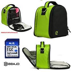 Nylon SLR Bag - Lime For Fujifilm X-Series S1, X10, X100, X1