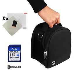 Nylon SLR Bag - Black For Canon EOS Rebel T5i, T5, T3i, T3i,
