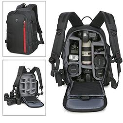 Abonnyc Digital Camera / Video Padded Backpack Multi Functio