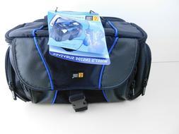 Case Logic Padded DSLR / Camcorder / Camera Bag Black w/ Blu