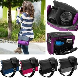 padded dslr camera shoulder bag carry case