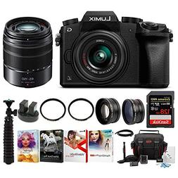 PANASONIC LUMIX G7 4K w/ 14-42mm & 45-150mm Lenses & 128GB B